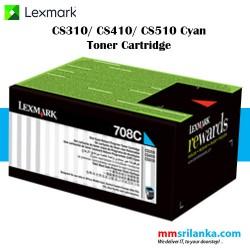 Lexmark 708 Cyan Toner Cartridge for CS310/CS410/CS510
